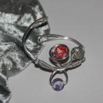 Bracelet argent et  perles Fimo   12€